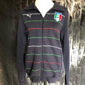 Vintage Puma Italia sweatshirt jacket navy blue sm